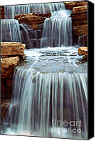 Serenity Canvas Prints - Waterfall Canvas Print by Elena Elisseeva