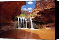 Staircase Canvas Prints - Waterfall in Coyote Gulch Utah Canvas Print by Utah Images