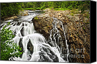 Waterfalls Canvas Prints - Waterfall in wilderness Canvas Print by Elena Elisseeva
