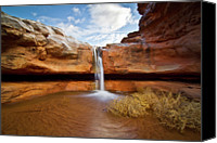 No People Canvas Prints - Waterfall Of Desert Canvas Print by William Church - Summit42.com