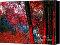 Metallic Tapestries - Textiles Canvas Prints - Waterfall Of Dreadlocks  Canvas Print by Alexandra Jordankova