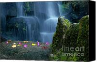 Brook Canvas Prints - Waterfall02 Canvas Print by Carlos Caetano