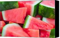 Photohogdesigns Canvas Prints - Watermelon 6673 Canvas Print by PhotohogDesigns