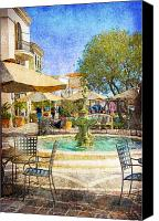 Shopping Canvas Prints - Waterside Canvas Print by Chuck Staley
