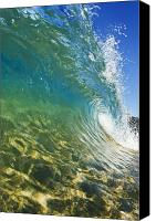 Aqua Canvas Prints - Wave - Makena Canvas Print by Quincy Dein - Printscapes