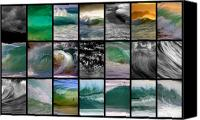 Abstract Water Canvas Prints - Wave Chart Canvas Print by Brad Scott