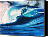 Storm Pastels Canvas Prints - Wave Canvas Print by Renate Dohr