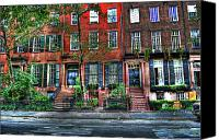 Greenwich Canvas Prints - Waverly Place Townhomes Canvas Print by Randy Aveille