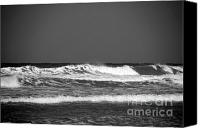 Beach Canvas Prints - Waves 2 in BW Canvas Print by Susanne Van Hulst