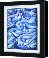 Waves Reliefs Canvas Prints - Waves 2 Canvas Print by Jason Amatangelo