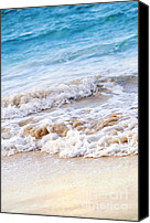 Sparkling Canvas Prints - Waves breaking on tropical shore Canvas Print by Elena Elisseeva
