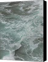 Debi Ling Canvas Prints - Waves Canvas Print by Debi Ling