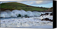 Storm Prints Canvas Prints - Waves in Dingle Canvas Print by Barbara Walsh