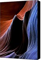 Desert Canvas Prints - Waves Canvas Print by Mike  Dawson