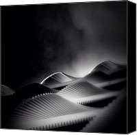 Featured Canvas Prints - Waves Of Steel - Concrete Jungle Canvas Print by Robbert Ter Weijden