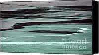 Beach Photograph Digital Art Canvas Prints - Waves On The Beach Canvas Print by Methune Hively