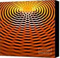 Harmonic Canvas Prints - Waves Superpositioning 4 Canvas Print by Russell Kightley