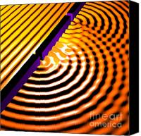 Harmonic Canvas Prints - Waves Two Slit 2 Canvas Print by Russell Kightley