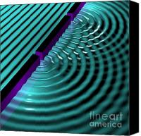 Science Lab Digital Art Canvas Prints - Waves Two Slit 3 Canvas Print by Russell Kightley