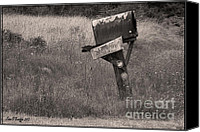Old Country Roads Canvas Prints - Way Back Canvas Print by Jean OKeeffe