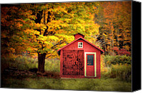 Country Scenes Canvas Prints - Way Out Canvas Print by Emily Stauring