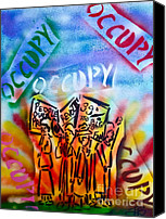 Conservative Painting Canvas Prints - We Occupy Canvas Print by Tony B Conscious