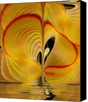Apophysis Pastels Canvas Prints - We Shall Feel It Within Our Being Canvas Print by Gayle Odsather