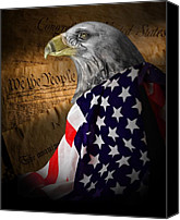Patriotic Canvas Prints - We The People Canvas Print by Tom Mc Nemar
