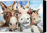 Holiday Cheer Canvas Prints - We Three Wise Asses Canvas Print by Mindy Newman