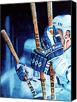 Toronto Maple Leafs Canvas Prints - Weapons of Choice Canvas Print by Hanne Lore Koehler