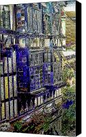 Floral Digital Art Special Promotions - Weavers House in Canterbury England Canvas Print by Mindy Newman