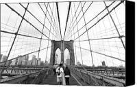 Brooklyn Bridge Canvas Prints - Web of Love Canvas Print by Andrew Serff