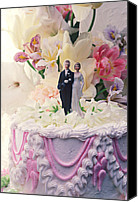 Bride Canvas Prints - Wedding cake Canvas Print by Garry Gay