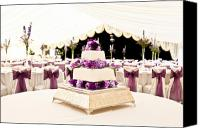 Dining Hall Canvas Prints - Wedding Cake Canvas Print by Tom Gowanlock