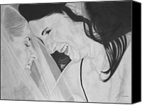 Miguel Rodriguez Canvas Prints - Wedding - Daughter and Mother Blessing Canvas Print by Miguel Rodriguez