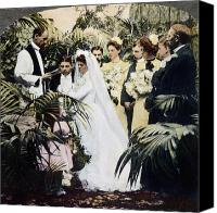 Bridesmaid Canvas Prints - Wedding Party, 1900 Canvas Print by Granger