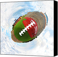 Athletic Digital Art Canvas Prints - Wee Football Canvas Print by Nikki Marie Smith