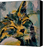 Tabby Painting Canvas Prints - Weeeeeee Sleepee Canvas Print by Paul Lovering
