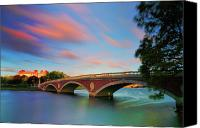 Harvard Canvas Prints - Weeks Bridge Canvas Print by Rick Berk