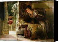 Alma-tadema; Sir Lawrence (1836-1912) Canvas Prints - Welcome Footsteps Canvas Print by Sir Lawrence Alma-Tadema