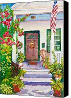 House Painting Canvas Prints - Welcome Home Canvas Print by Michelle Wiarda
