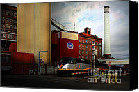 Factories Canvas Prints - Welcome To Crockett California Blue Collar USA . 7D8856 Canvas Print by Wingsdomain Art and Photography