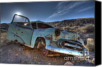 Rusted Cars Canvas Prints - Welcome To Death Valley Canvas Print by Bob Christopher
