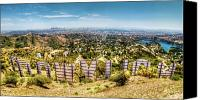 Hillside Canvas Prints - Welcome to Hollywood Canvas Print by Natasha Bishop