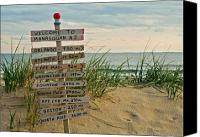 New Jersey Canvas Prints - Welcome to Manasquan Canvas Print by Robert Pilkington