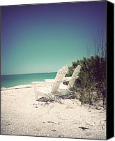 Tropical Beach Canvas Prints - Welcome to Relaxation II-Vintage Canvas Print by Chris Andruskiewicz