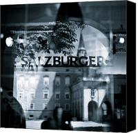 Old Town Canvas Prints - Welcome to Salzburg Canvas Print by David Bowman