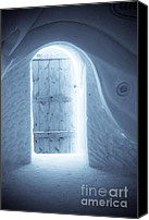 Door Canvas Prints - Welcome to the Ice Hotel Canvas Print by Sophie Vigneault
