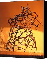 Abstract Art Sculpture Canvas Prints - Welded Torso Canvas Print by Tommy  Urbans