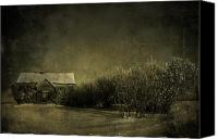 Creepy Canvas Prints - Well come IN Canvas Print by Jerry Cordeiro